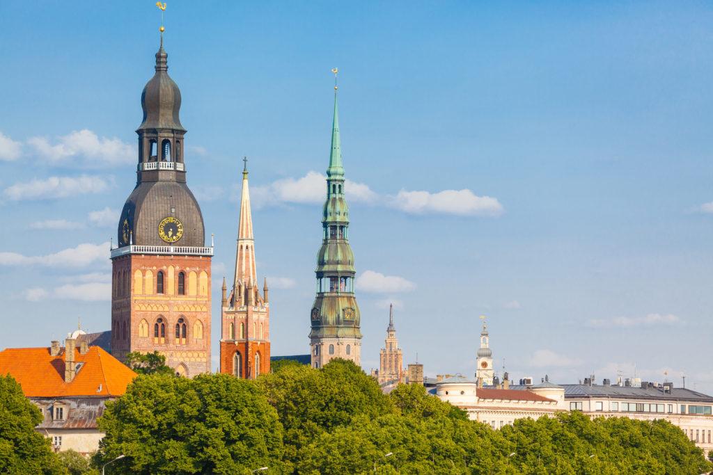 Riga Skyline on a Sunny Day