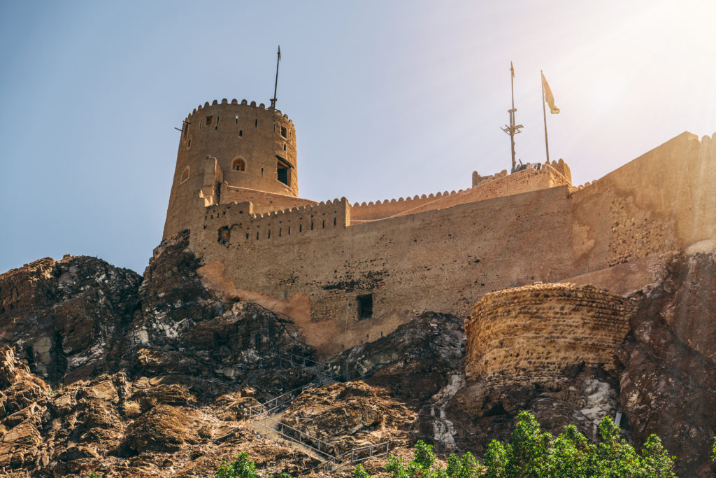 Old fortress in the city of Muscat, Oman