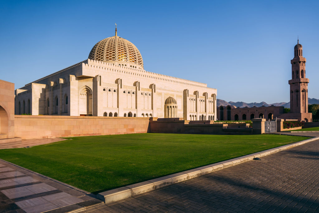 The great Qaboos Mosque in Muscat, Oman