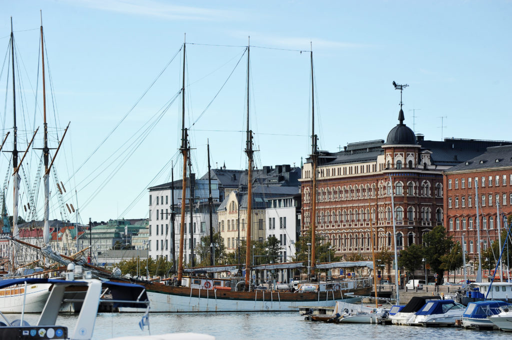 Helsinki, Finland, 28 September: berth Marina in the centre of Helsinkl on SEPTEMBER 28, 2014, Helsinki, Finland
