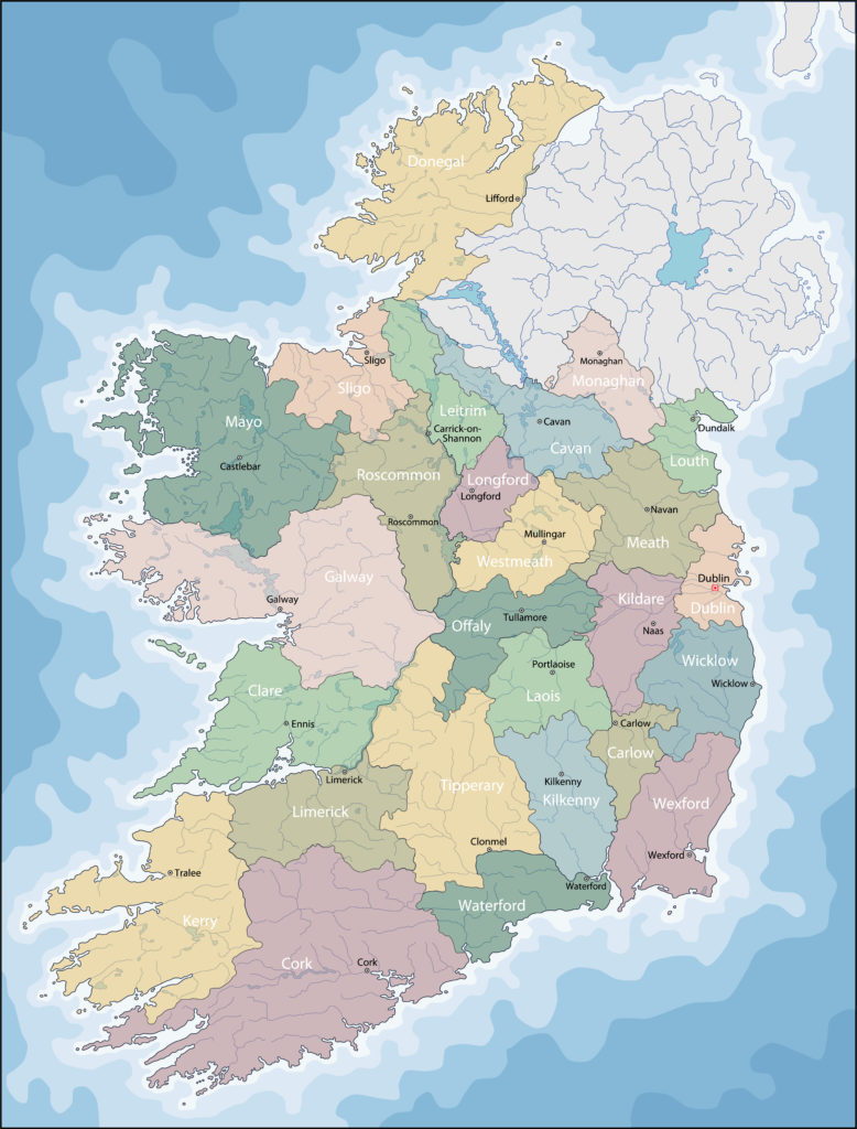 Ireland, also known as the Republic of Ireland, is a sovereign state in north-western Europe occupying about five-sixths of the island of Ireland.