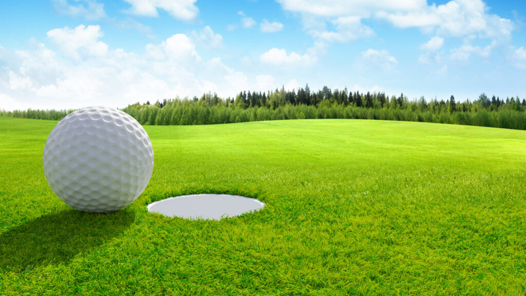 3d-render-close-up-golf-ball-green-golf-course-sport-background